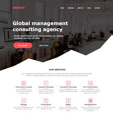 free one page business html and css template flat design inspiration