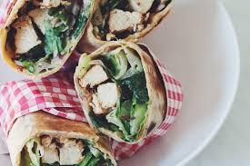vegan chicken caesar wraps for food