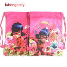 ladybug wrapping paper anime printing gift bag miraculous ladybug backpacks marinette cat