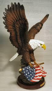 Bald Eagle On Flag Eagle Gifts Galore Eagle Gift Figurines Three Soaring Eagles