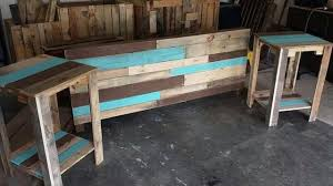 diy hand built pallet bed with headboard