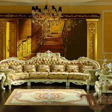 European Living Room Furniture Palace Luxury Furniture European Classical Solid Wood Sofa Cloth