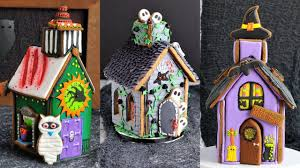 how to make 3 amazing halloween gingerbread houses by haniela u0027s