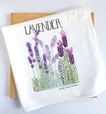 lavender tea lavender tea towel flower kitchen towel chavah s garden
