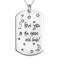 I Love You To The Moon And Back Personalized Necklace I Love You To The Moon And Back U2013 Evermarker