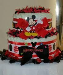 mickey mouse diaper cake centerpiece small 2 tier diaperca u2026 flickr