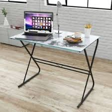 Home Office Glass Desk Computer Desk World Map Modern Stylish Glass Table Home Office