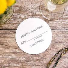 wedding coaster favors custom coasters save the date wedding coaster favors for