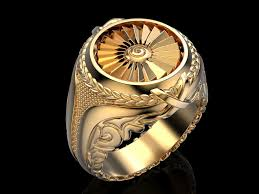 ring for men men ring turbine 3d print model cgtrader