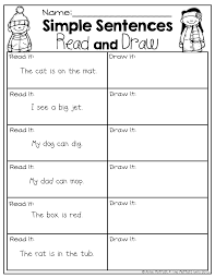 Beginner Reader Worksheets Very Simple Sentences For Beginning Readers With Common Sight
