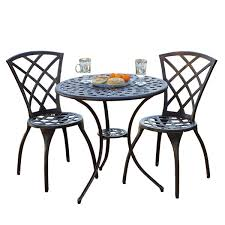 metal patio dining sets you u0027ll love wayfair