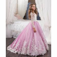 pink dress for wedding photos formal pink flower dress baby pageant gown