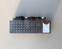 Spice Rack Including Spices Wall Spice Rack Etsy