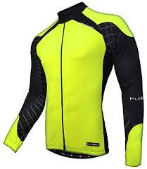 black cycling jacket funkier men u0027s j 730 lw long sleeve cycling jersey amazon co uk