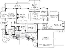 Donald A Gardner Floor Plans House Plan The Sycamore Hall By Donald A Gardner Architects