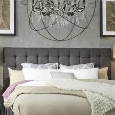 Padded Headboard King Bed Fabric Headboard Gray Upholstered Headboard King Woven