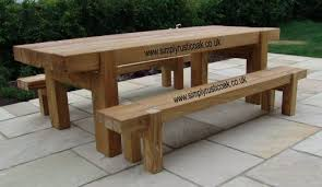 Rustic Oak Bench Oak Garden Tables By Simply Rustic Oak