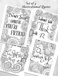 printable mindfulness quotes sale set of 4 coloring motivational quotes printable