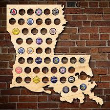 louisiana beer cap map unique beer gifts for men bottle