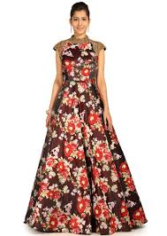 gown design multi colour gown with floral design all