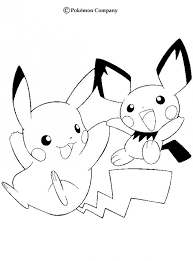 happy pikachu coloring pages hellokids