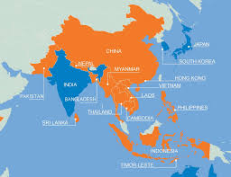 Asia Map With Country Names by Map Asia U2013 Plan International Ireland
