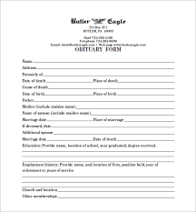 Template For Funeral Program Blank Obituary Template U2013 7 Free Word Excel Pdf Format Download