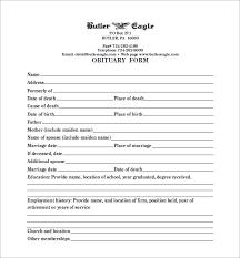 Funeral Program Maker Blank Obituary Template U2013 7 Free Word Excel Pdf Format Download
