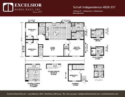 3 bedroom trailer floor plans schult independence 4828 357 excelsior homes west inc