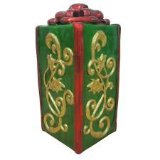 30 in led lighted green jumbo gift box mx1201a the home depot