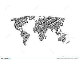 hand sketch world map globe illustration 51361616 megapixl