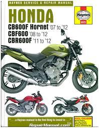 honda hornet honda cb600f hornet cbf600 cbr600f 2007 2012 haynes repair manual