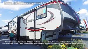 forest river 5th wheel floor plans forest river vengeance laminated 5th wheel toy 422v12 6 youtube
