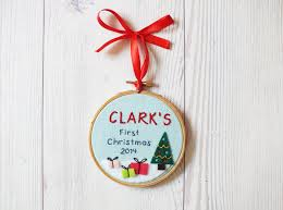 personalized baby u0027s first christmas ornament christmas