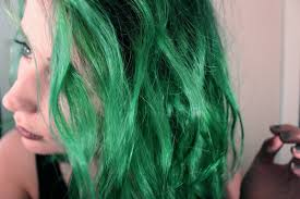 What Does Semi Permanent Hair Color Mean It Ain U0027t Easy Being Green Diy Green Hair The Achromat
