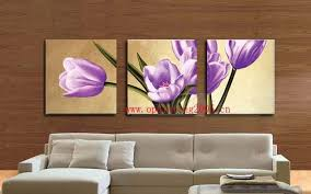 hand painted oil painting on canvas wall art painting purple tulip