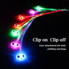 amazon com midafon 15 pack led color changing fiber optic hair