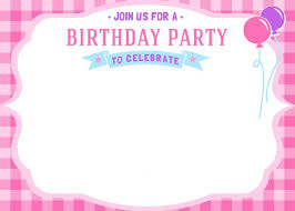 birthday party invitation template image collections