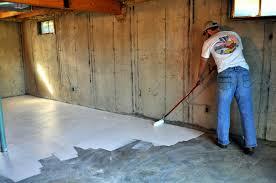 basement wall paint sealer ideas apply basement wall paint
