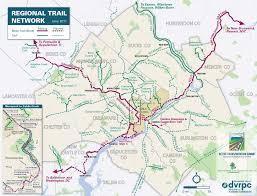 Philadelphia Pennsylvania Map by Greater Philadelphia Regional Trail Network The Pennsylvania