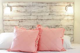 White Wooden Headboard Captivating White Wooden Headboard How To Make A Diy Distressed