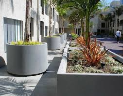large concrete planter planters inspiring large round concrete planters large round