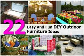 Diy Patio Furniture 22 Easy And Fun Diy Outdoor Furniture Ideas