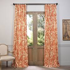 Exclusive Curtain Fabrics Designs Exclusive Fabrics Edina Printed Cotton Curtain Panel Free