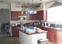 kitchen island hanging pot racks pot racks are hanging clutter house photos