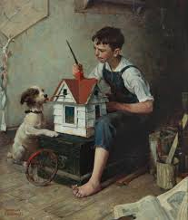 file norman rockwell painting the house 1921 jpg