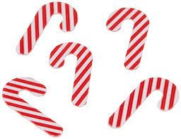 amazon com creative converting shaped confetti candy cane red