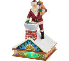 hallmark keepsake up on the housetop magic cord ornament qvc