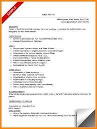 Resume Templates For Dental Assistant Resume Objective For Dental Assistant Registered Dental Hygienist