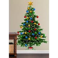 christmas tree wall decal christmas lights decoration christmas tree giant wall